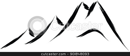 mountain silhouette black and white at getdrawings com free for rh getdrawings com mountain clipart black and white vector mountain range clipart black and white
