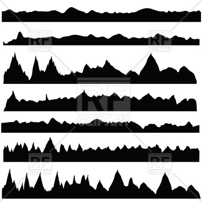 400x400 Mountain Silhouettes Royalty Free Vector Clip Art Image