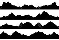 200x135 Best Mountain Range Silhouette Black White Images