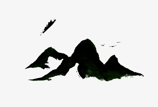 518x352 Mountain, Mountain Ink, Ink Mountain Silhouette Png Image