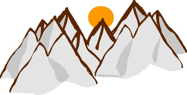 600x306 Brilliant Design Clipart Mountains Silhouette Clip Art Panda Free
