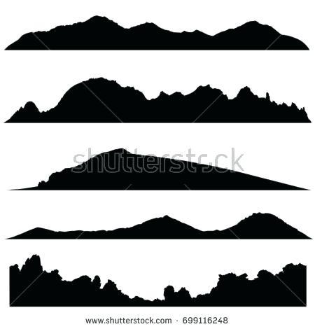 450x470 Mountain Landscape Silhouette Landscape Silhouette Mountain