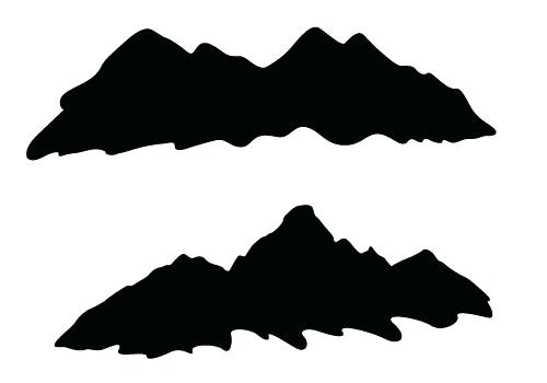 500x350 Mountain Silhouette Mountain Silhouette Mountain Bike Silhouette
