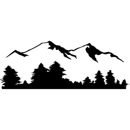 mountain silhouette painting at getdrawings com free for personal rh getdrawings com mountain range silhouette clip art mountain goat silhouette clip art