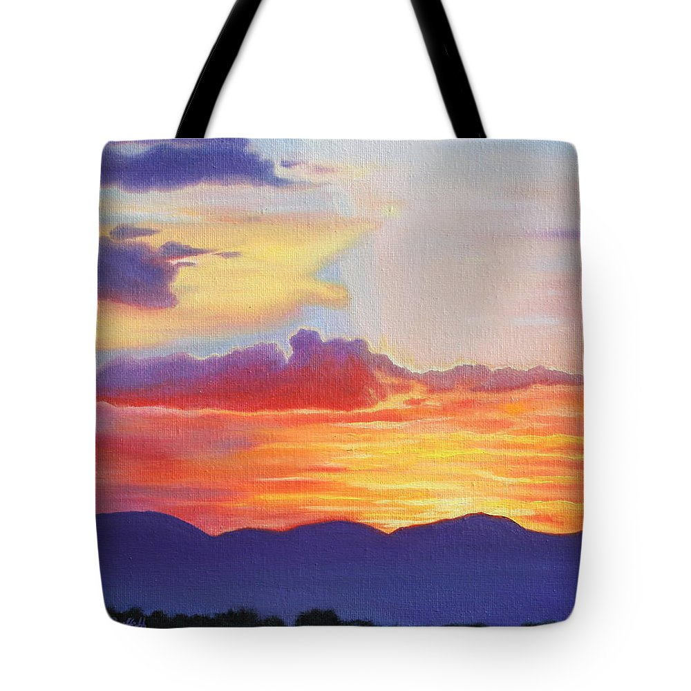 1000x1000 Sunset Mountain Silhouette Tote Bag For Sale By Kristine Mueller