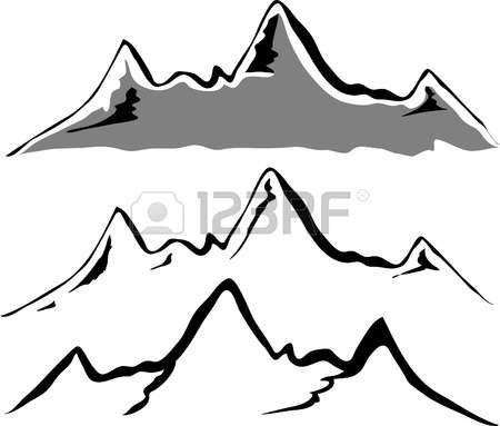 450x383 Black Mountain Silhouettes Photo Painting Ideas