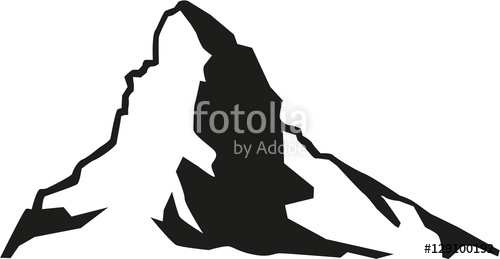 500x259 Matterhorn Mountain Silhouette Stock Image And Royalty Free