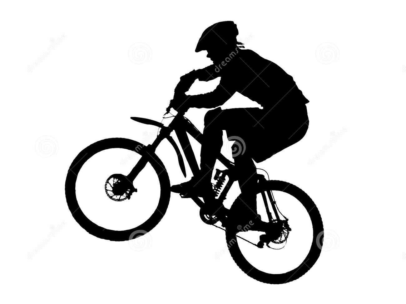 1300x975 Mountain Bike Silhouette Clipart