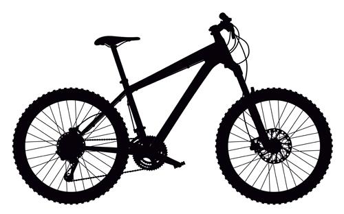 500x312 Mountain Bike Vector Silhouetter 01