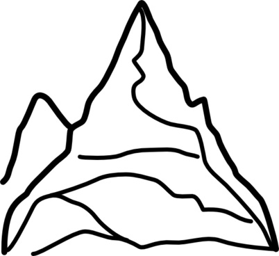 402x368 Mountain Silhouette Vector Art Free Vector Download (215,349 Free