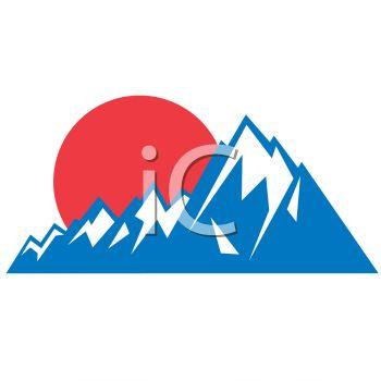 350x350 Peachy Ideas Mountain Range Clip Art Leaf Template Sunset Icon