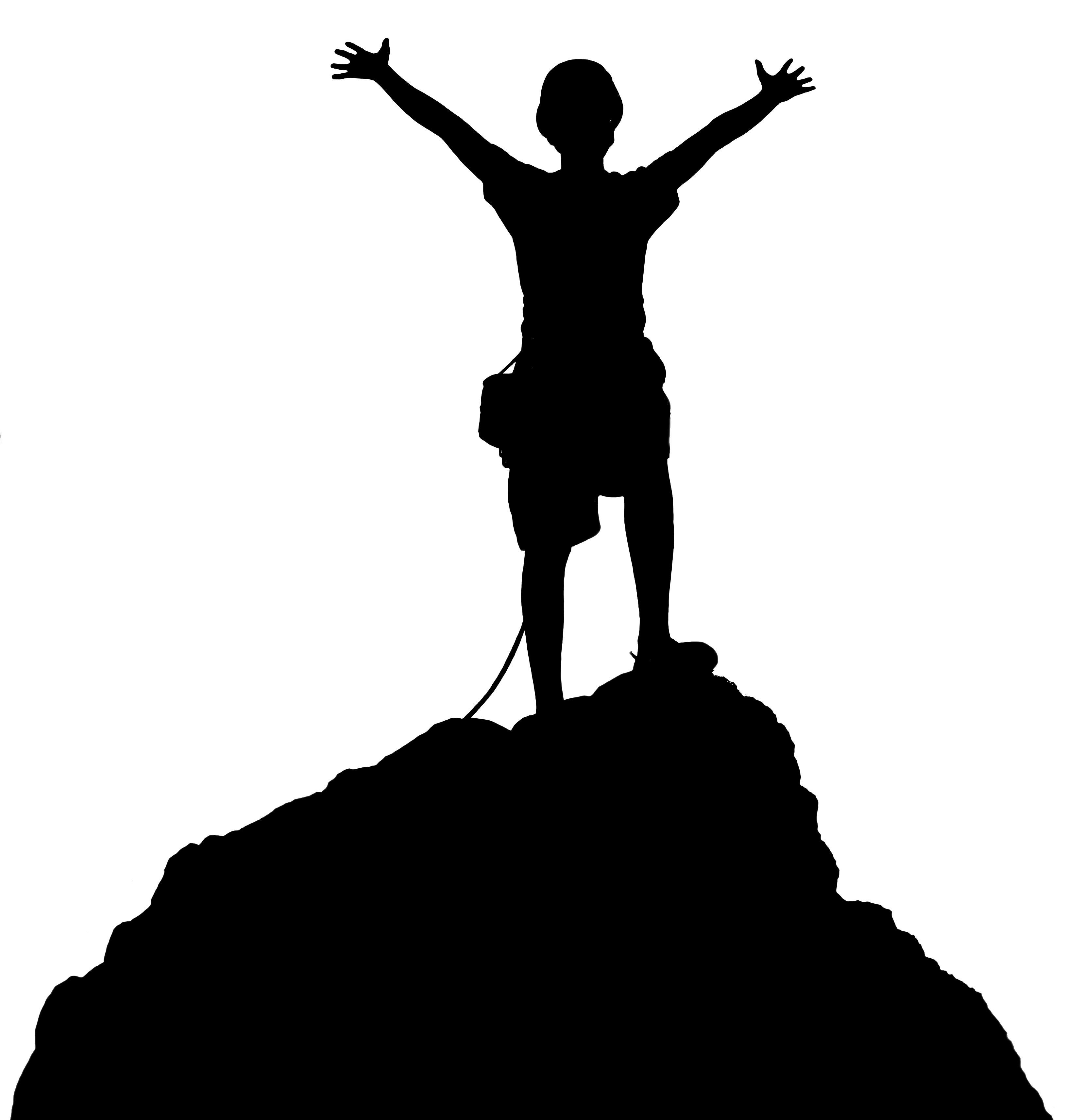 3264x3427 Hd Best Free Hiking Top Of Mountain Clipart Kid Image Cdr