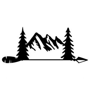 300x300 Mountain Arrow Silhouette Design, Arrow And Silhouettes