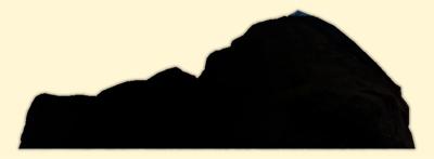 400x147 Mountain Silhouette Clip Art