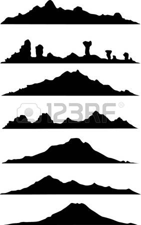 282x450 Mountain Clipart Silhouette Collection