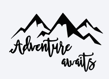 380x275 Svg, Adventure Awaits, Baby Room, Mountains, Cut File, Printable