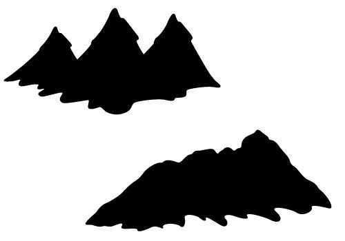 500x350 The Best Mountain Silhouette Ideas Mountain