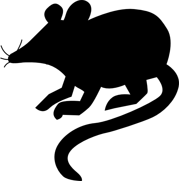 594x600 Mouse Silhouette 2 Clip Art