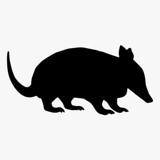 512x512 Mouse Silhouette, Animal, Projection, Black Silhouette Png Image