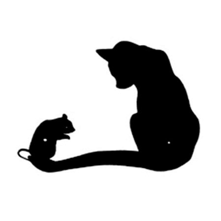 450x450 Cat And Mouse Silhouette