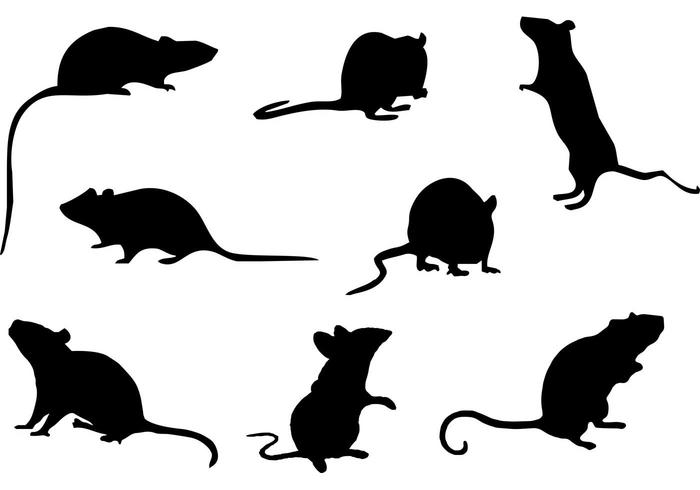 700x490 Free Mice Silhouette Vector