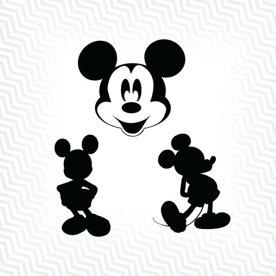 570x570 Mickey Mouse Outline Cutout Vector Art Silhouette Mickey Mouse