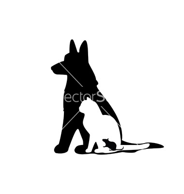 380x400 Mouse Cat Dog Silhouette Vector Quilts Dog