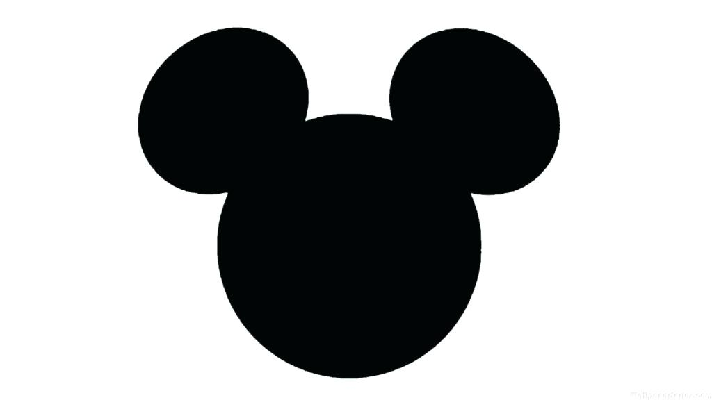 1024x576 Mickey Mouse Head Silhouette Also Listening Ears Template Mickey