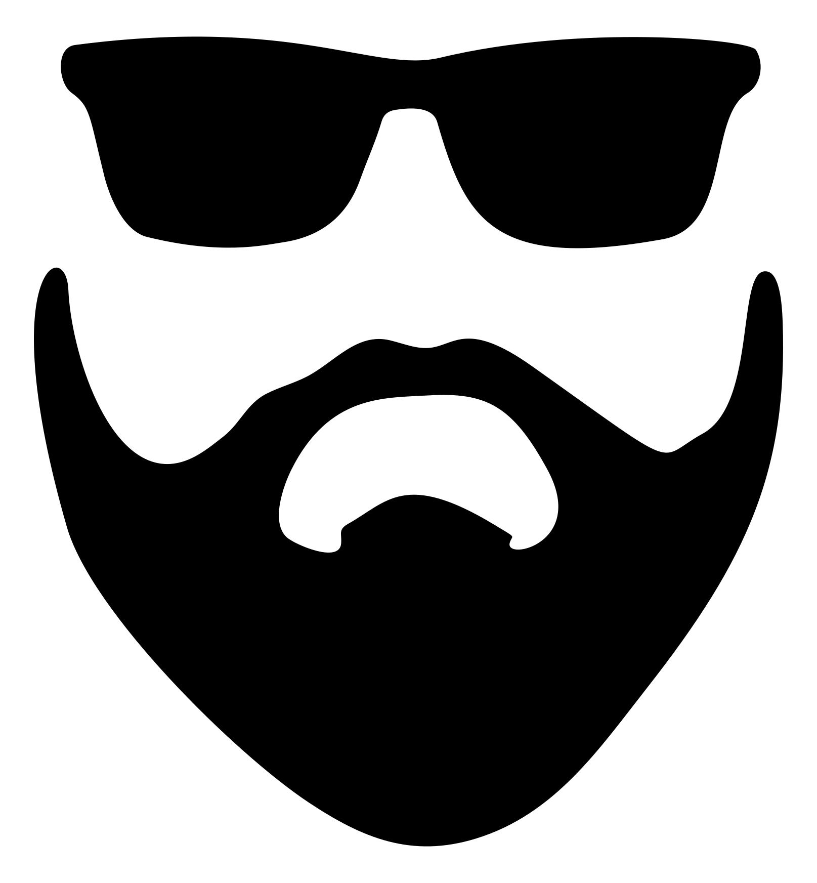 1615x1745 Beard And Sunglasses Silhouette Clipart