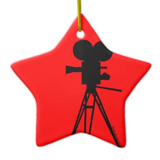 540x540 Movie Camera Silhouette Ornament