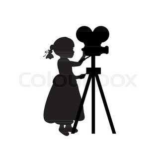 320x320 Movie Camera Silhouette Icon In Patterns Isolated On White