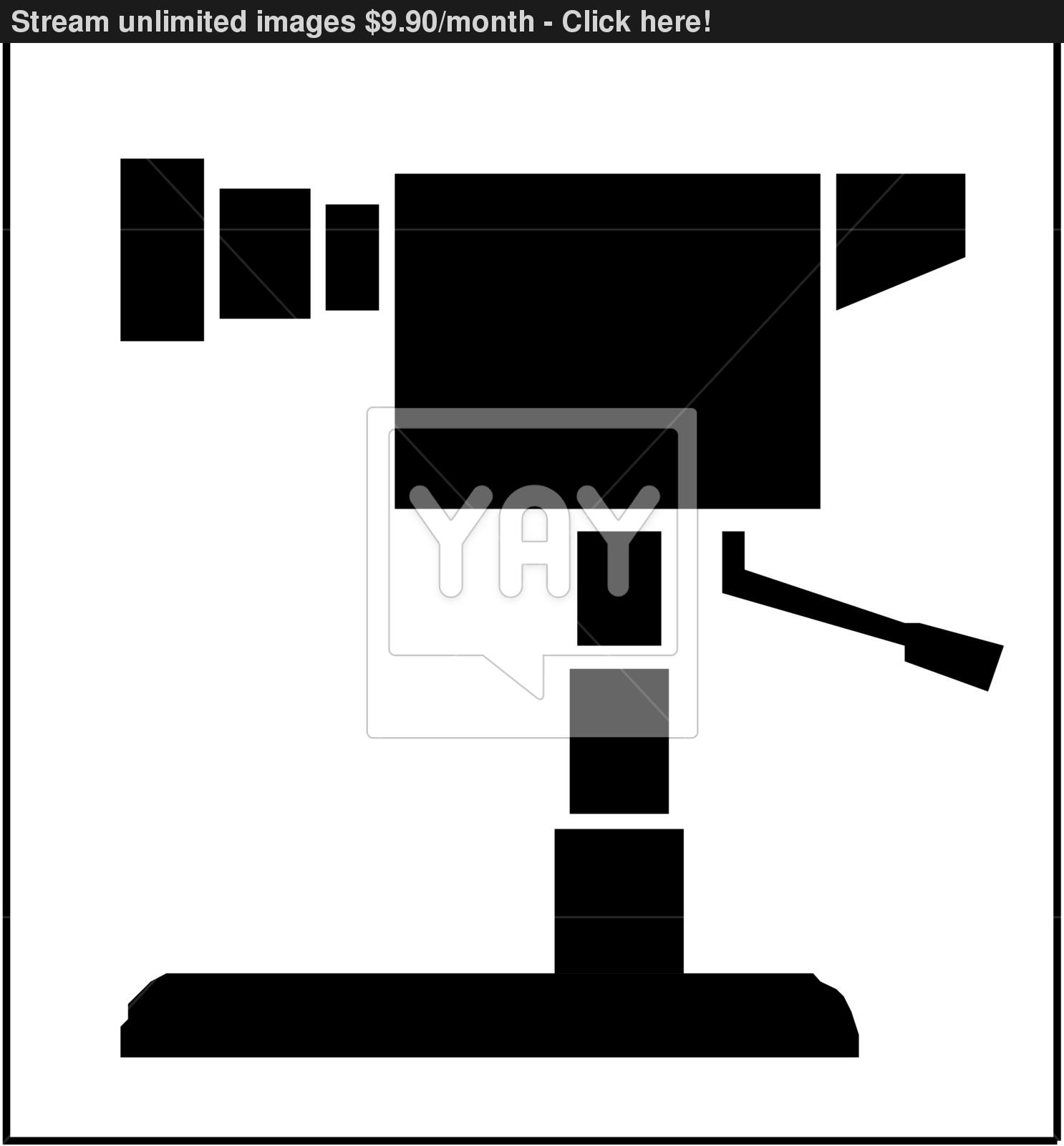 1486x1600 Movie Camera Silhouette Vector