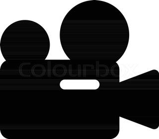320x280 Vector Silhouette Camera Film Stock Vector Colourbox