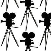 173x173 Vintage Movie Camera Silhouette Black Amp White Wallpaper