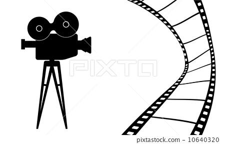 450x288 Cinema Camera And Movie Vector Illustration