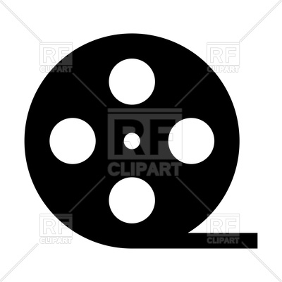400x400 Film Strip Silhouette Royalty Free Vector Clip Art Image