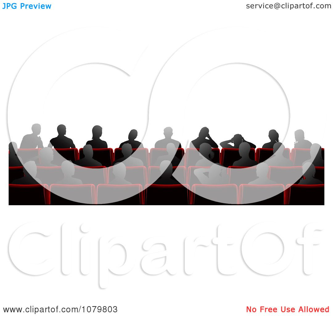 1080x1024 Clipart Silhouetted People Sitting In Cinema Theater Chairs