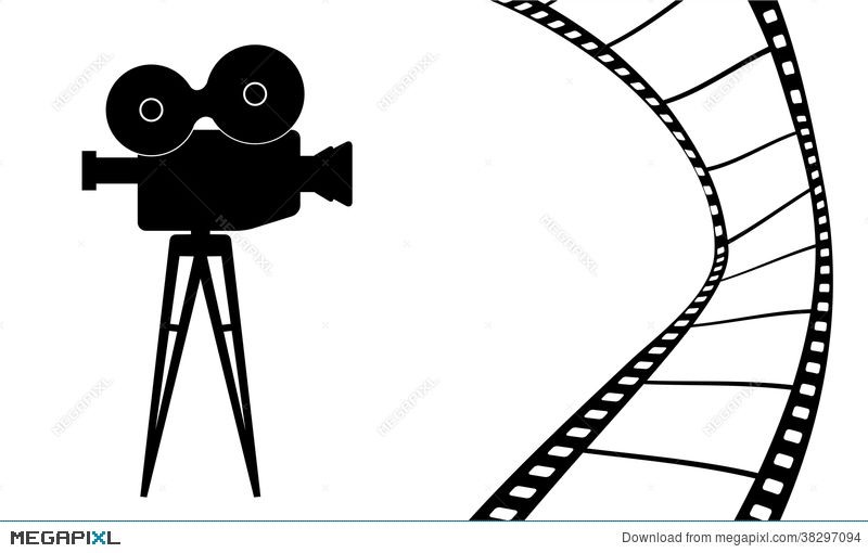 800x510 Cinema Camera And Movie Vector Illustration Illustration 38297094