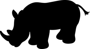 300x165 Rhino Clipart Image