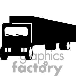 300x300 Semi Truck Silhouette Clipart