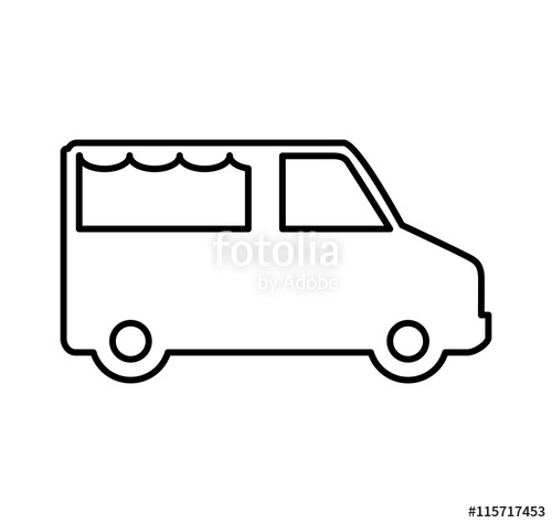 500x474 Transportation Concept Represented By Food Truck Silhouette Icon