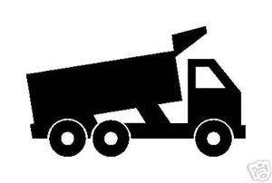 300x202 Dump Truck Silhouette Vinyl Stickerdecal Road Building Svg