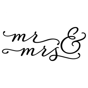 300x300 Silhouette Design Store Mr And Mrs Calligraphy Sophie Gallo