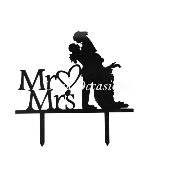 600x600 Unik Occasions Mr Amp Mrs Silhouette Acrylic Cake Topper Amp Reviews