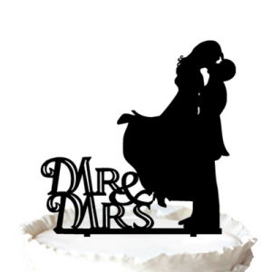 300x300 China Sweet Kissing Bride And Groom Mr Amp Mrs Silhouette Wedding