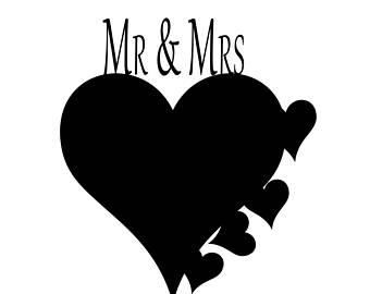 340x270 Mr Amp Mrs Svg Wedding Love Graphics Svg Dxf Eps Png Cdr Ai Pdf