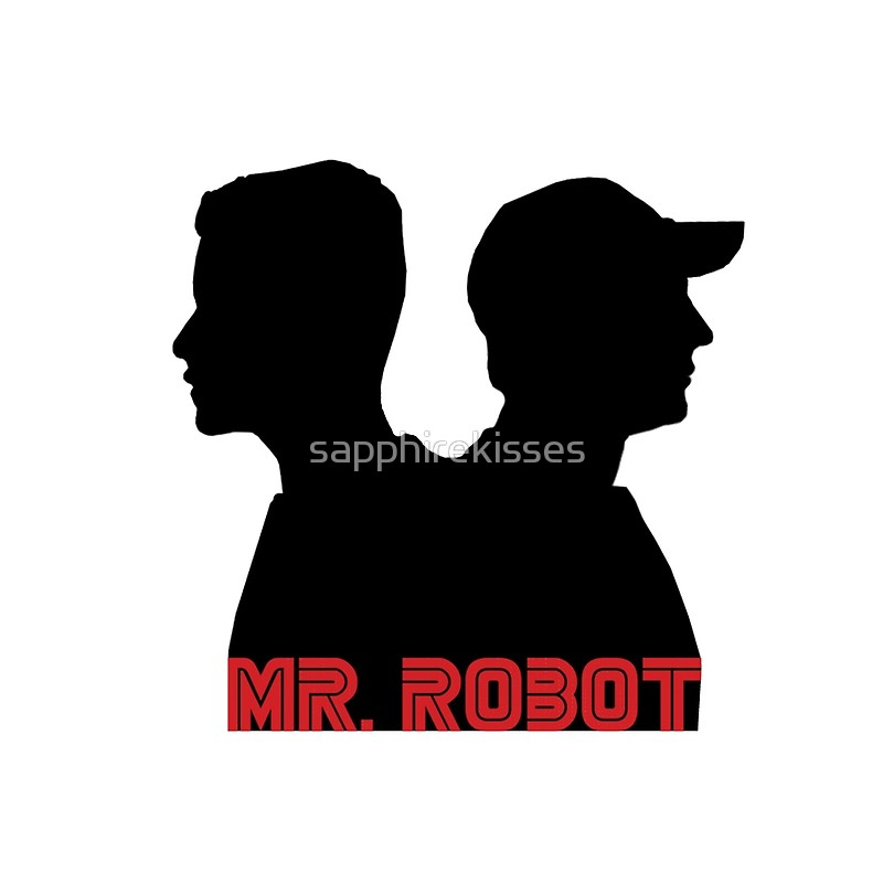 800x800 Mr. Robot Silhouettes Drawstring Bags By Sapphirekisses Redbubble