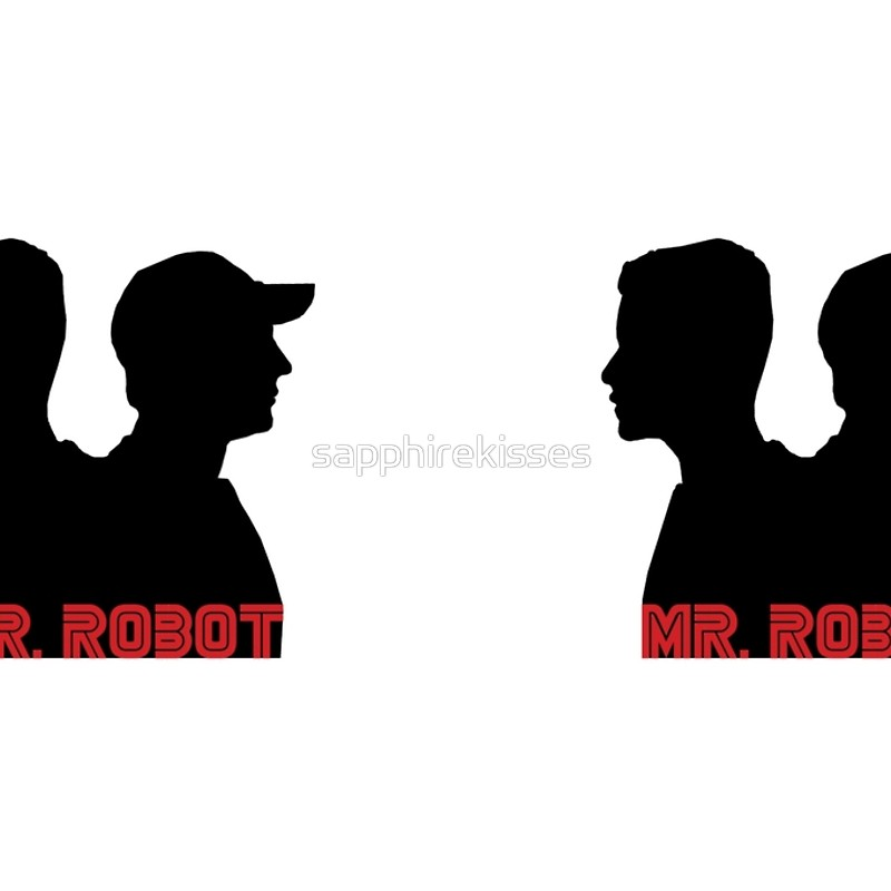 800x800 Mr. Robot Silhouettes Hardcover Journals By Sapphirekisses
