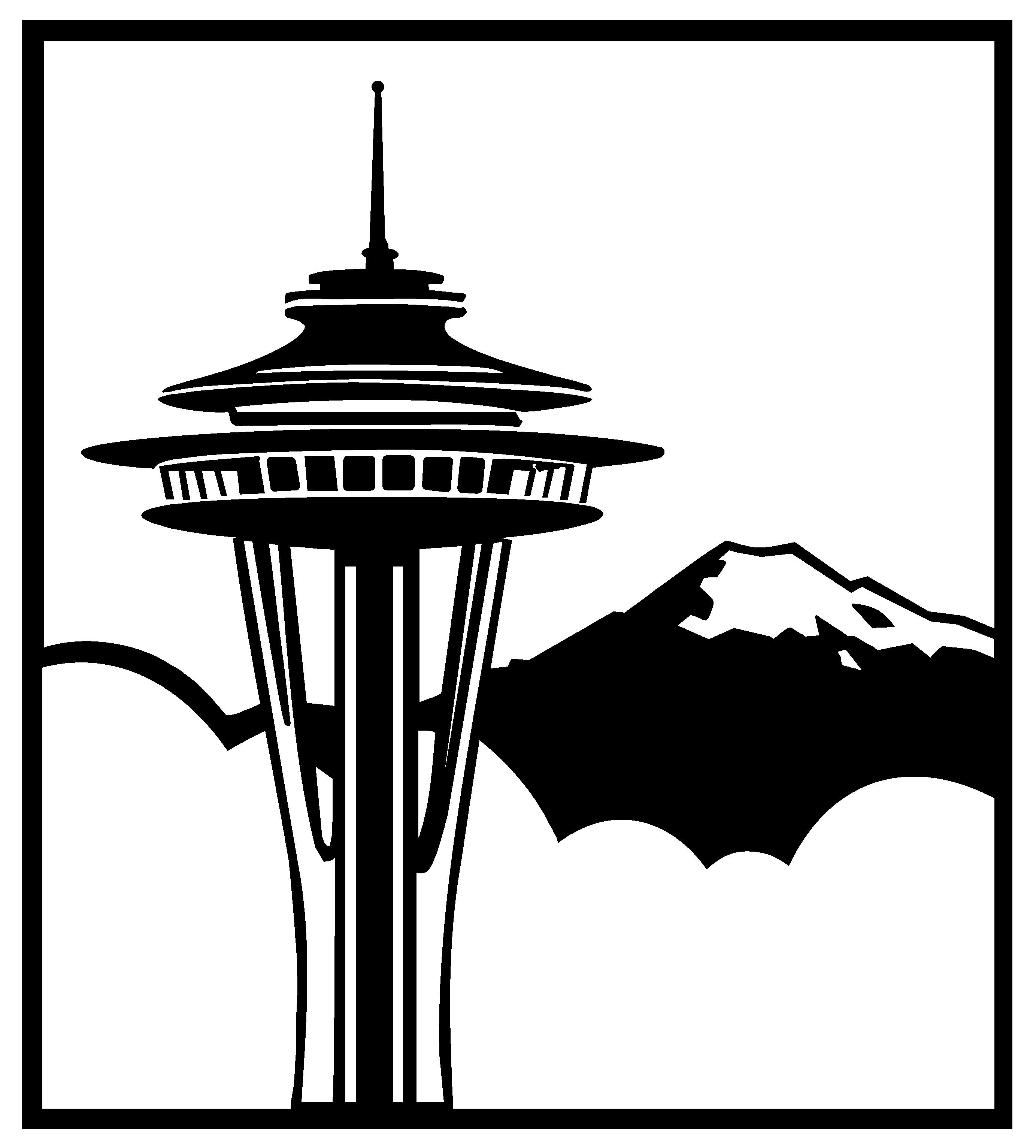 Mt Rainier Silhouette