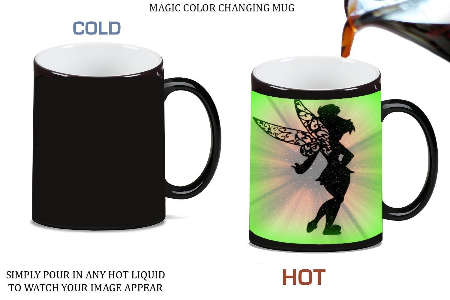 1500x1000 Cute Fairy Silhouette Design Print Image Magic Color Changing